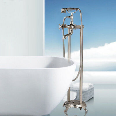 Senlesen Floor Mounted Bathroom Faucet Free Standing Bath Tub Filler Mixer Tap