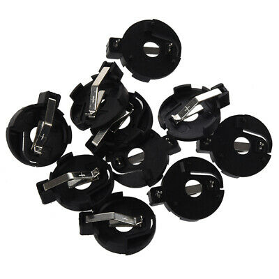 CR2016 2025 2032 Coin Cell Button Battery Holder Socket Black 10 Pcs Z3S1