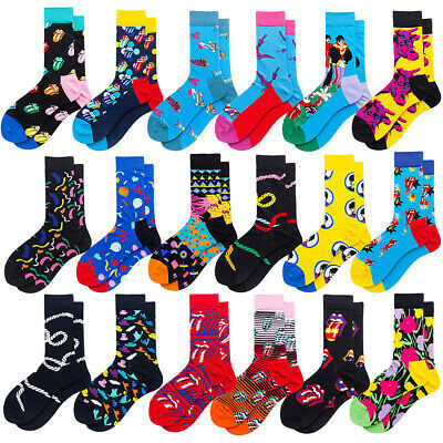 Mens Cotton Socks Warm Funny Fancy Crazy Novelty Casual Dress Socks For Gifts