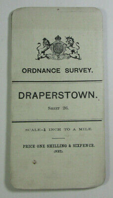 1900 OS Ordnance Survey Ireland One-Inch Second Edition Map Sheet 26 Draperstown