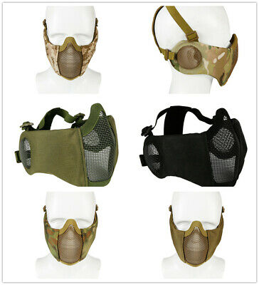 New Steel Wire Mesh Half Face Mask Tactical Paintball Airsoft Hunting Protection