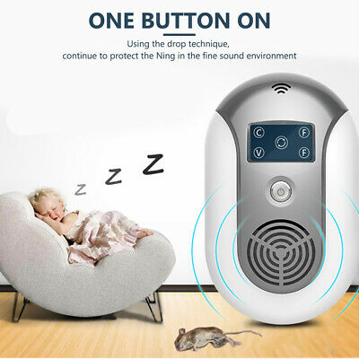 Ultrasonic Pest Reject Electronic Repeller Anti Mosquito Bug Mice Insect Killer