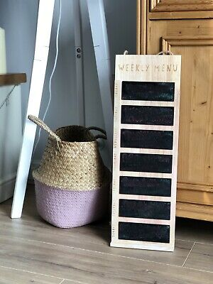 Kitchen Wooden Chalkboard Weekly Menu By Next - Great Condition