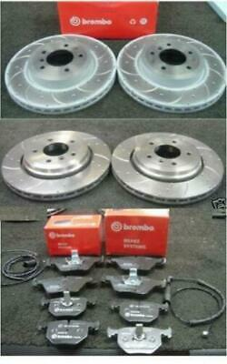 BMW Z4 E85 Z4 2.5Si 3.0i 03-05 Front Rear Drilled Grooved Brake Discs And Pads