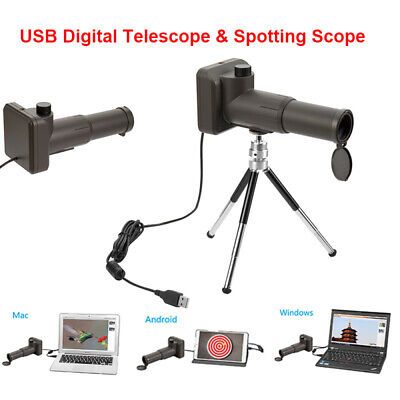 Zoom 20x Digital Telescope Scope Video USB 2M Monocular For Android Mac Tablet