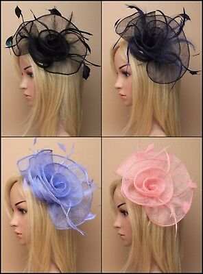 Fascinator Loop & Swirl Clip Wedding Races Formal Occasion Ball Prom Ascot