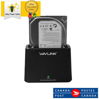 WAVLINK USB 3.0 to SATA External Hard Drive Docking Station for 2.5/3.5 Inch