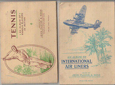 Cigeratte cards & Books TENNIS & AIRLINERS John Player   L%$K