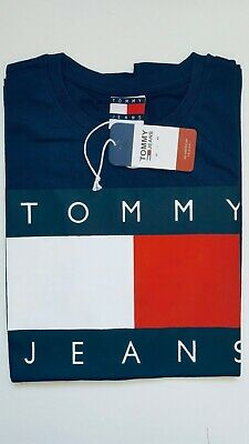 Mans Classic Tommy Hilfiger Icon Short Sleeve Navy XL Crew Neck 100% Cotton