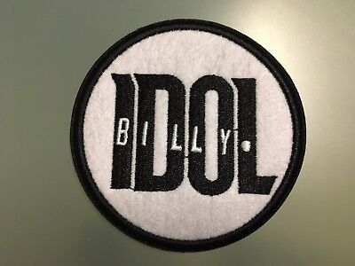 BILLY IDOL GENERATION X HEAVY PUNK POP ROCK MUSIC EMBROIDERED PATCH UK SELLER