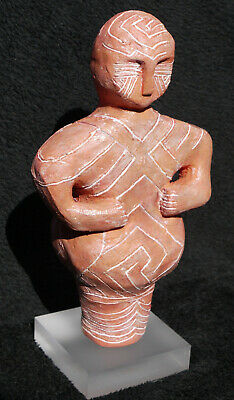 Replica VINCA MASK IDOL FIGURINE Neolithic Old Europe Danube Script 5000BC