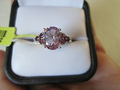 Rose De France Amethyst Platinum over Sterling Silver Ring (Size 8) TGW 2.89 cts