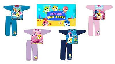 Boys Girls Official Pingfong Baby Shark Doo Long Pyjamas