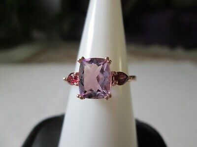 Rose De France Amethyst 14K RG over Sterling Silver Ring (Size 8) TGW 2.41 cts.