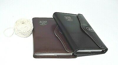 1x 2020 executive leather effect A5 one day to a page appointment diary