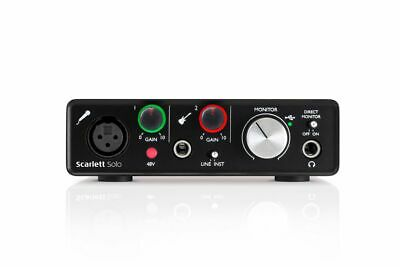 Focusrite Scarlett Solo (2nd Gen) - 2 In / 2 Out USB 2.0 Audio Interface