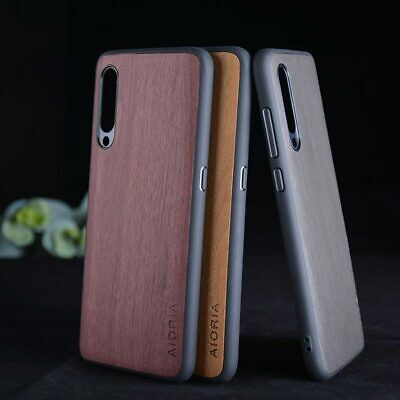 Case for Xiaomi Mi A3 Wood Pattern Luxury Vintage leather case Skin hard cover