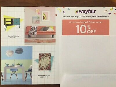 Wayfair 10% Off Entire First Order Coupon Expires 10/15/19
