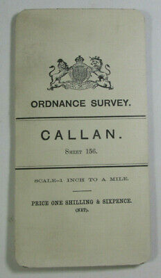 1898 Old OS Ordnance Survey Ireland One-Inch Second Edition Map 156 Callan