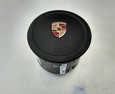 PORSCHE 911 CAYENNE PANAMERA BOXTER CAYMAN STEERING WHEEL AIRBAG smoth LEATHER