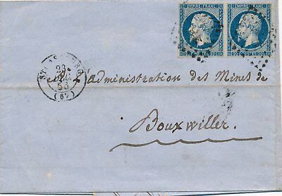 Lettre n°14Paire CaD Strasbourg Bas Rhin pour Bouxwiller Cover