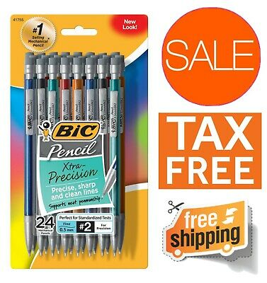 BIC Xtra-Precision Mechanical Pencil 24 Count Fine Point 0.5mm Multicolored Set
