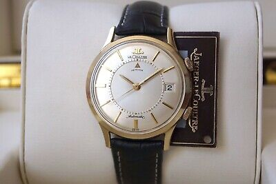 """Iconic Jumbo Automatic Jaeger Lecoultre Memovox—Orig. Dial—""""Jl"""" Crowns—Cal. K825"""