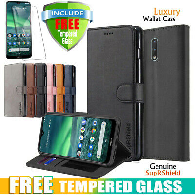 For Nokia 2.2 Wallet Case Leather Card Slots Flip Stand Magnetic Cover