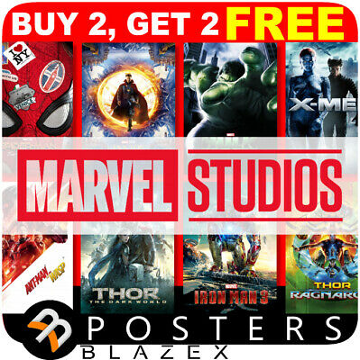 Marvel Avengers Movie Poster, A4, A3 Wall Photo Poster Prints Art Film