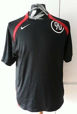 NIKE 90 training football shirt black /red trim great condition size Medium