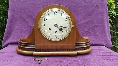 RARE Vintage Antique German Badische Uhrenfabrik Westminster Mantel Clock c1925