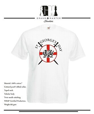 St George's Day - Circular England Shield And Dragon Lady Fit & Unisex T-Shirts