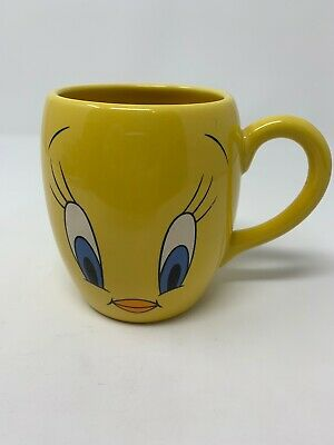 Vintage 1999 Yellow Tweety Bird Mug Warner Bros Television Authentic