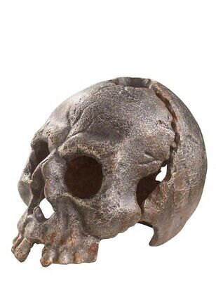 Victorian Trading Co Cast Iron Halloween Skull Macbeth Candle Holder