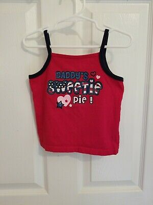 Girls Faded Glory Patriotic Sleeveless Shirt With Daddy's Sweetie Pie Size 3T