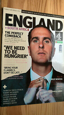 England V South Africa 2003 Official Programme   Third Npower Test