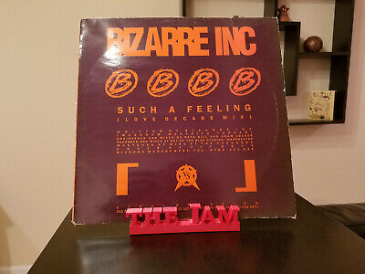 The Jam Red Vinyl Record Wall Mount Display Shelf, Record Storage, Red Large
