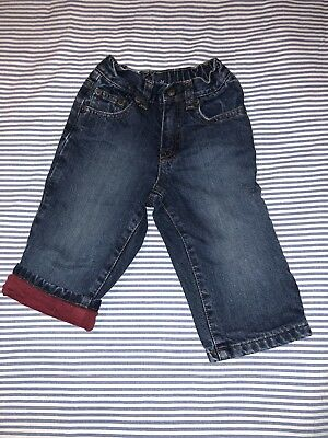 Baby Gap Boys Lined Jeans 18-24 Mos SELLING TONS! Lined Pants Elastic Waist