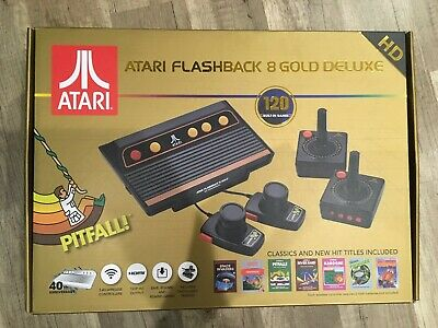Atari Flashback 8 Gold Deluxe with 120 Games - Includes 2 Controllers and 2 Padd