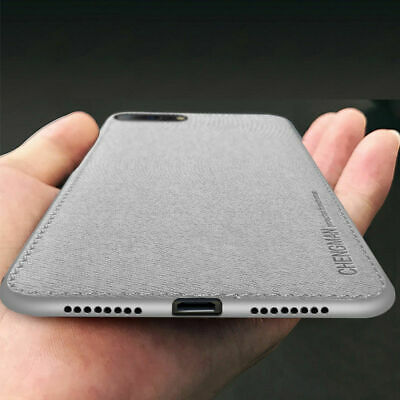 Hybrid Soft TPU Fabric Case Magnetic Shockproof Cover for iPhone 8 X 7 6s 6 Plus