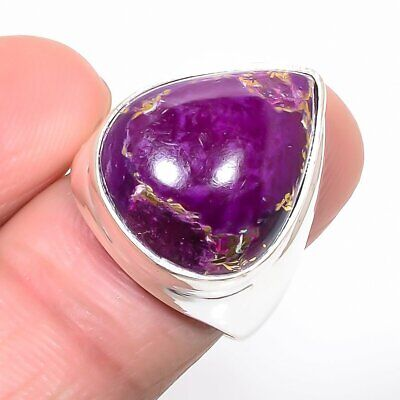 Copper Mohave Purple Turquoise 925 Sterling Silver Ring 8