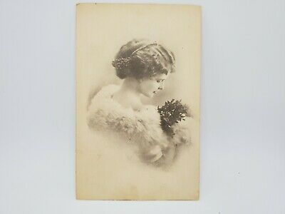 RPPC Ridgway PA Postcard Beautiful woman posing victorian Post date stamp 1913