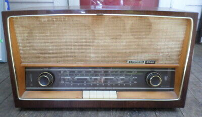 Vintage Grundig Shortwave AM FM TUBE Radio Model 2540 U Made in Germany