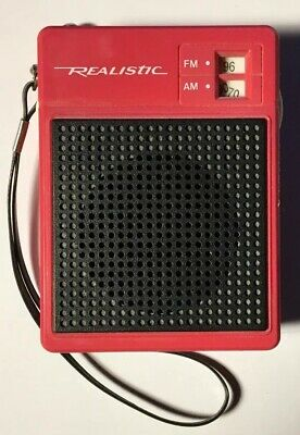 Vintage Realistic Transistor Radio AM/FM  Model 12-720, Tested and Works Well.