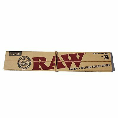 RAW 12 inch Super Natural Classic Unrefined Rolling Papers Smoking Tobacco Paper