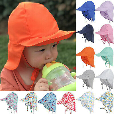 Kids Hat Legionnaire Cap Summer Lace Up Sun UV Protection Sport Boy Girl Toddler