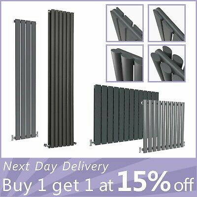 Designer Anthracite Radiator Horizontal&Vertical Flat Panel Oval Column Rads UK