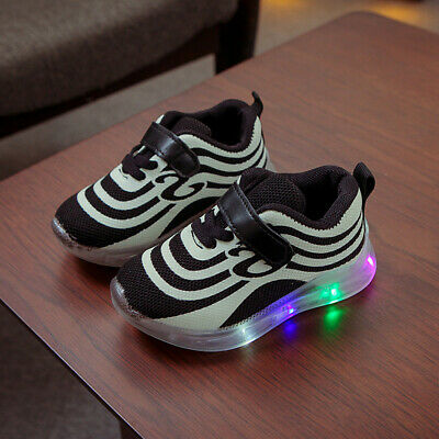 LED Children Kids Boys Girls Light Up Sneakers Baby Luminous Shoes Trainers