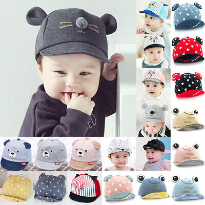 Toddler Kids Baby Girl Boys Bonnet Ear Hats Sun Cotton Baseball Cap Snapback
