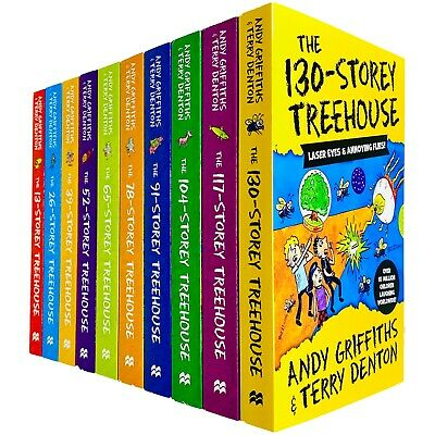 Andy Griffiths The Treehouse Series 10 Books Collection Set The 117-Storey NEW